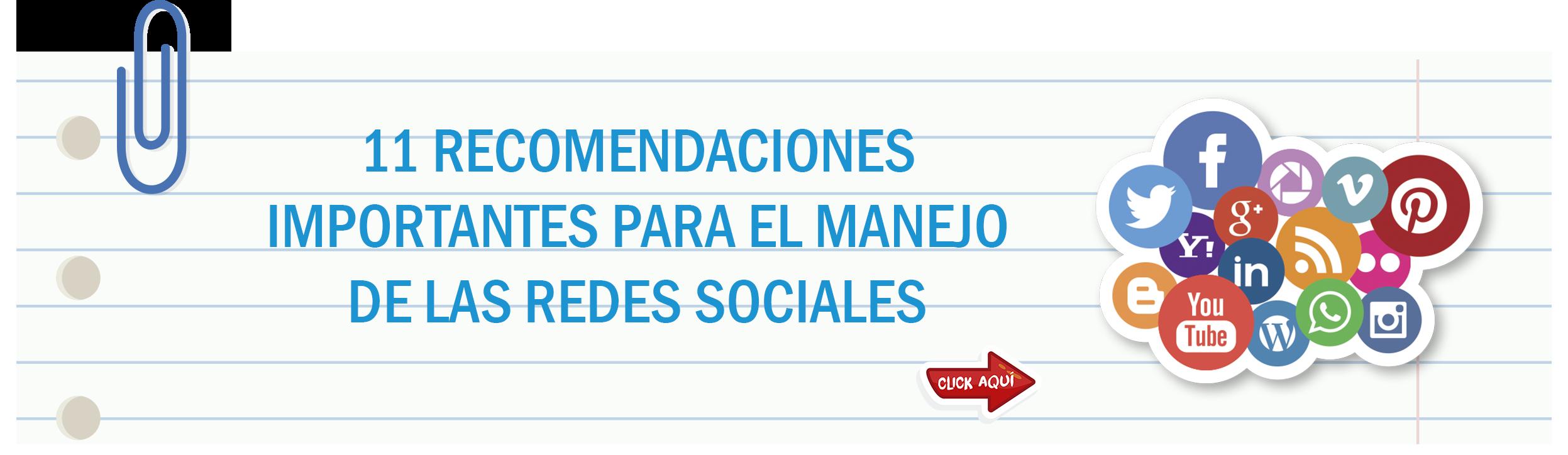 Recomendaciones para el manejo de redes sociales
